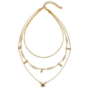 Urban Outfitters Jewelry - Layered Stars & Black Sun Necklace